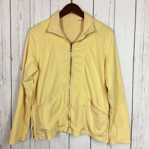 Tommy Bahama Womens Yellow Cotton Sweatshirt
